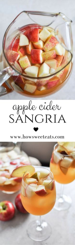 Pin Ups and Link Love: Apple Cider Sangria | knittedbliss.com
