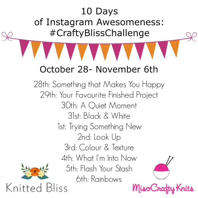 #craftblisschallenge Fall 2016 | knittedbliss.com