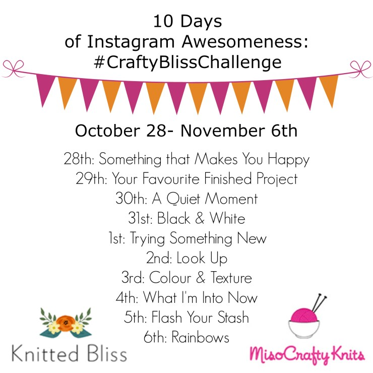 #craftblisschallenge Fall 2016   knittedbliss.com