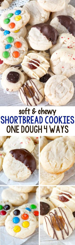 Pin Ups and Link Love: Shortbread Cookies 4 Ways | knittedbliss.com
