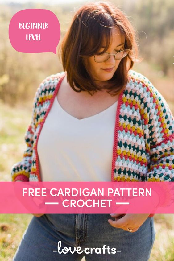 Free Crocheted Cardigan Pattern