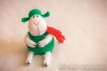 вязаная овца овечка спицами