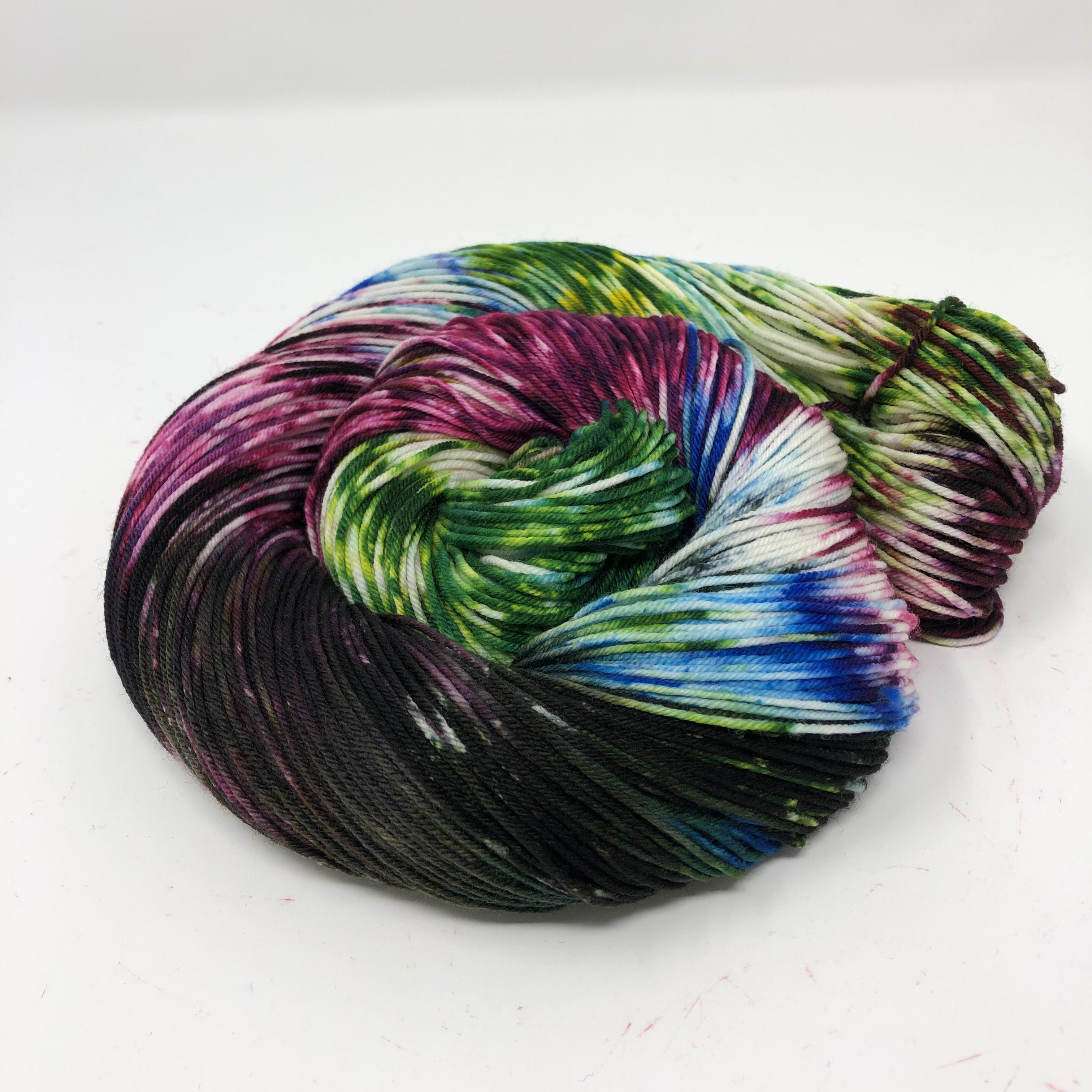 Skein of our National Parks colorway Wrangell-St Elias in Sock