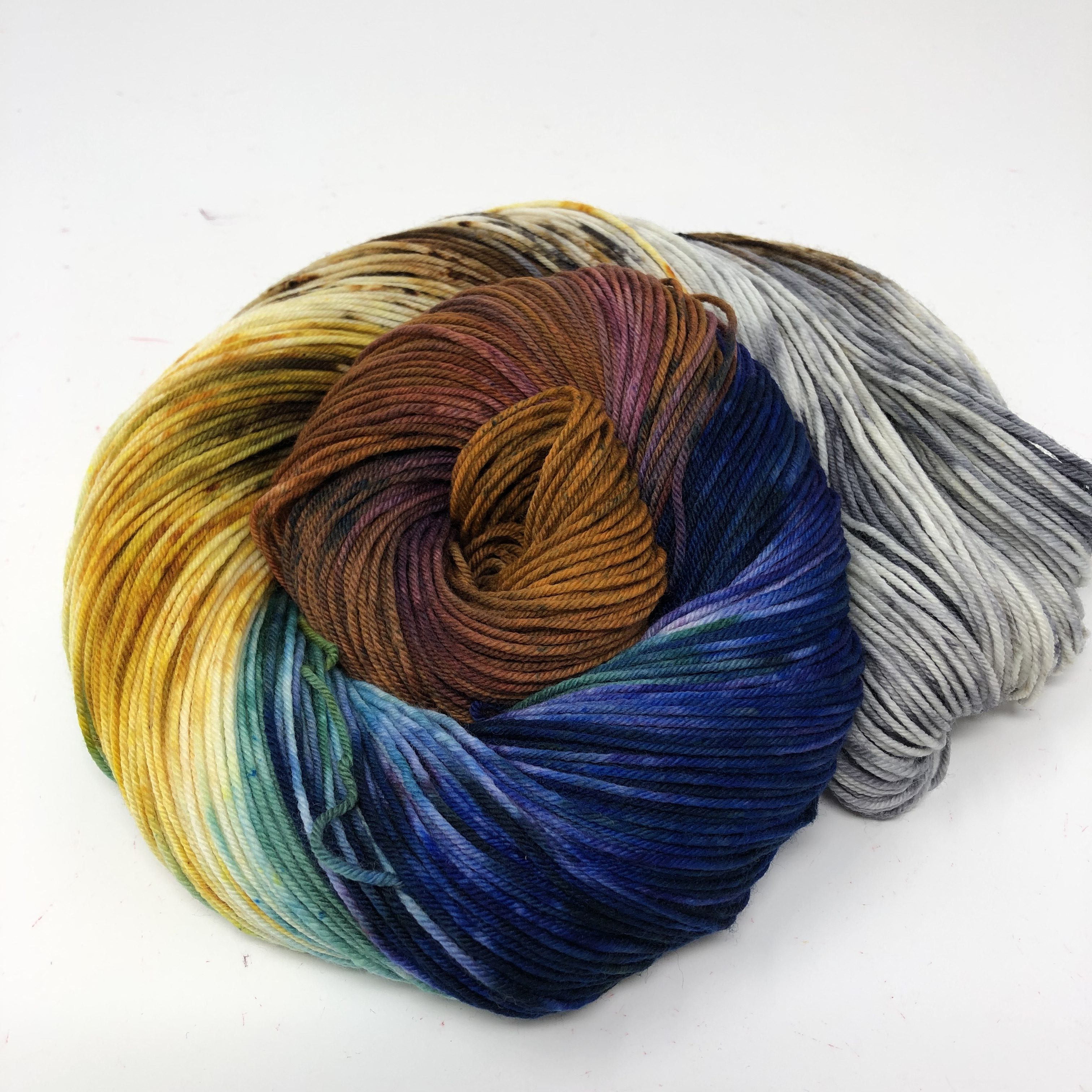 Skein of our National Parks colorway Joshua Tree in Sock