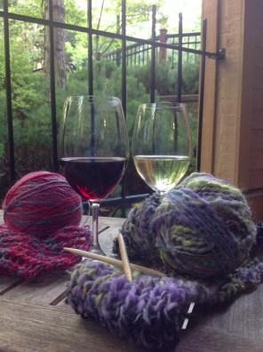 wine and yarn pairings