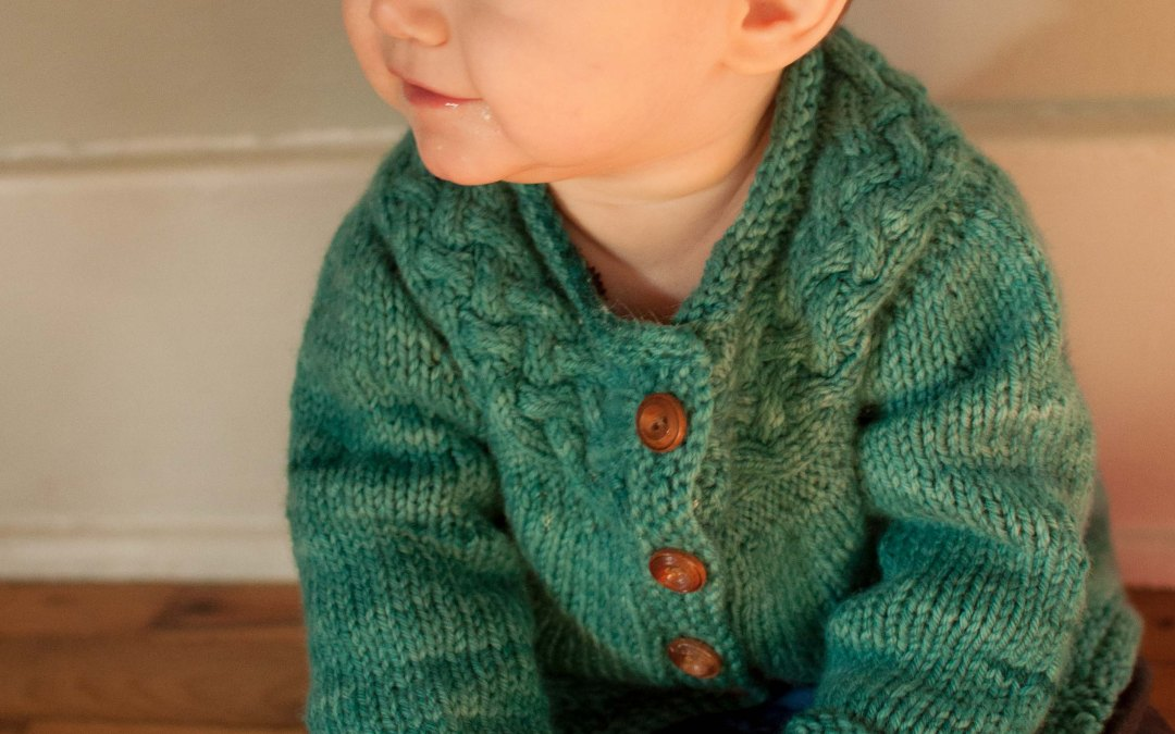 A twice-knitted sweater