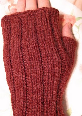 Free Pattern Fingerless Mitts Knitting