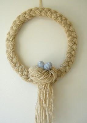 Tutorial Yarn Wreath Knitting
