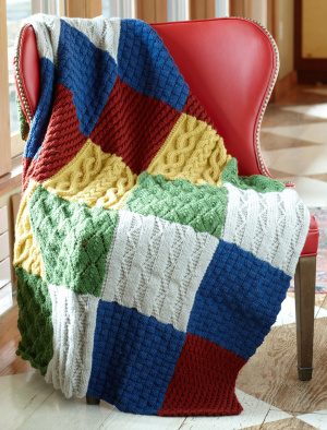 Sampler Patch Afghan Pattern From Lion Brand Knitting