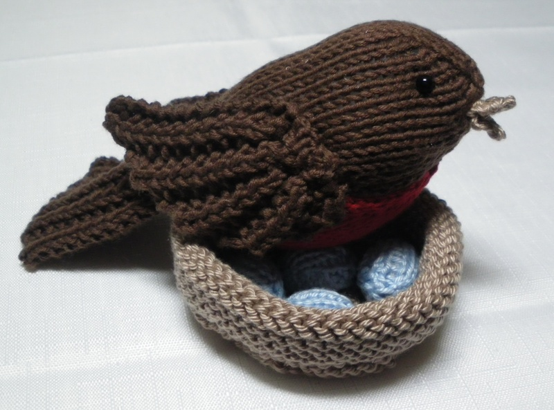aecc21bc0 Free Pattern – Robin s Nest and Eggs – Knitting