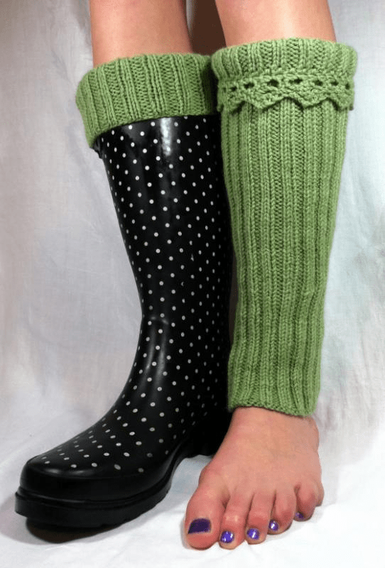 Knitting Pattern For Rain Boot Socks : Boot Liners, or Boot Toppers?   Knitting