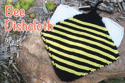bee dishcloth lily