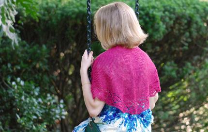 dayflower shawlette