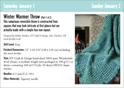 knitting pattern calendar