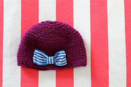 Free Pattern Knitted Newborn Hat Knitting