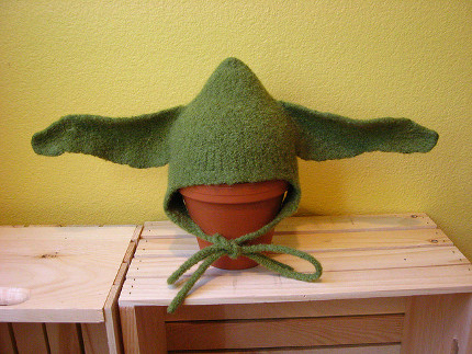 Free Pattern Felted Yoda Hat Knitting