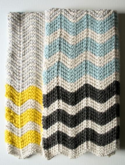 Free Pattern: Chunky Chevron Baby Blanket - Knitting