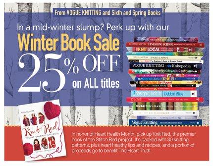 vogue knitting book sale