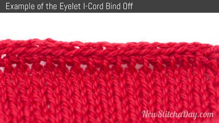 eyelet icord bind off