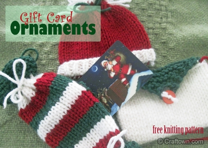 knit gift card holders