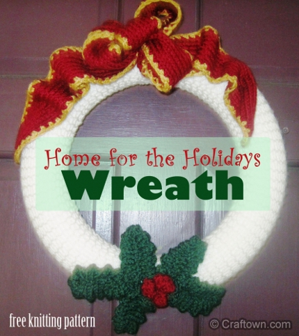 Knit A Wreath For Your Holiday Door Knitting