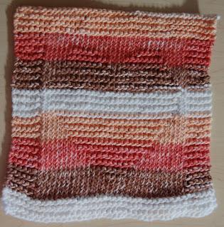 striped heart dishcloth