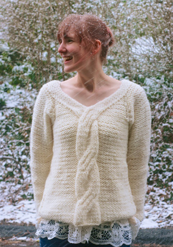 first snow sweater