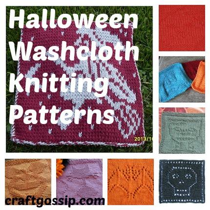 halloween washcloth knitting patterns