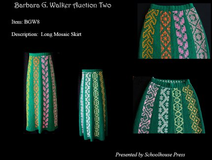 barbara walker mosaic skirt