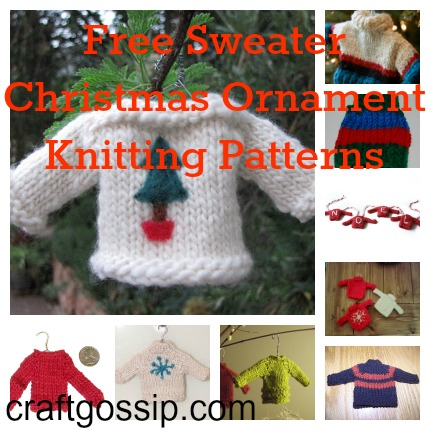Christmas Sweater Ornaments To Knit Knitting