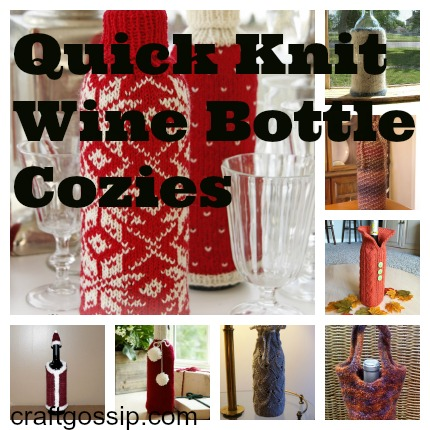 Quick Knits Bottle Cozy Patterns Knitting