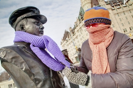 ottawa yarn bombing