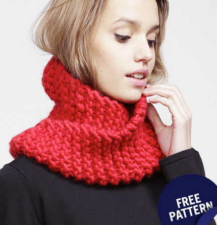 Get out some big yarn and needles to knit this snood knitting snood operator wool and the gang dt1010fo
