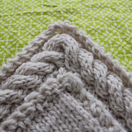 How To Knit A Continuous Cable Border Knitting