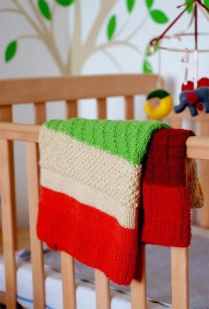 sampler baby blanket