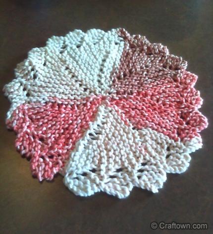 pinwheel dishcloth craftown