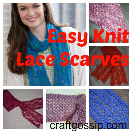 Super Easy Lace Scarves Knitting
