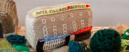 British knitters and crocheters replicate town