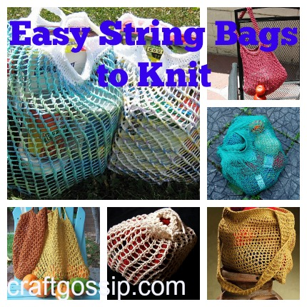 Free Patterns For String Bags Knitting