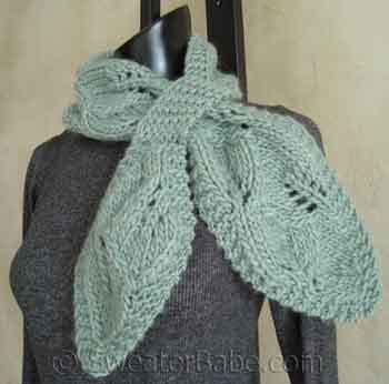 Download This Leafy Scarf Pattern To Knit This Fall Through June 30