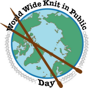 are you knitting in public for world wide knit in public day?