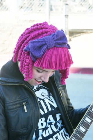 knit some fun hair to spice up a costume