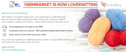 yarnmarket sold to love knitting