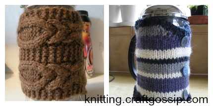 french press cozy knitting patterns