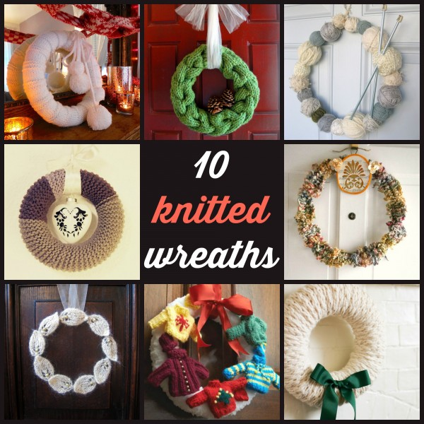 10 knitted wreaths - CraftGossip
