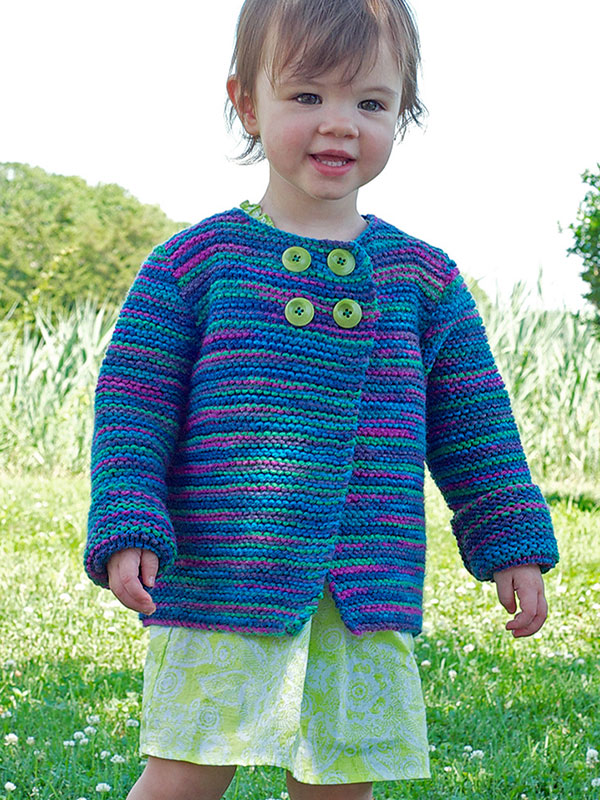 knit a simple swing coat for the little one in your life