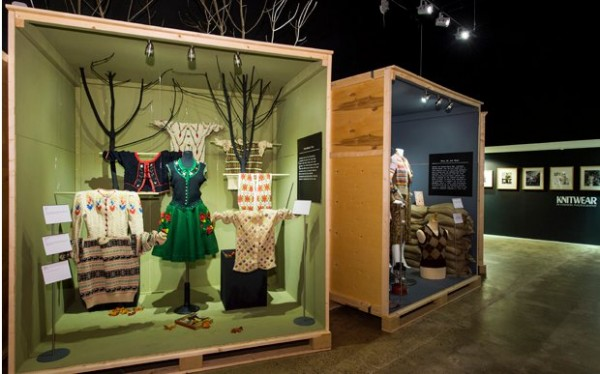 knitwear on exhibit at London's textile museum