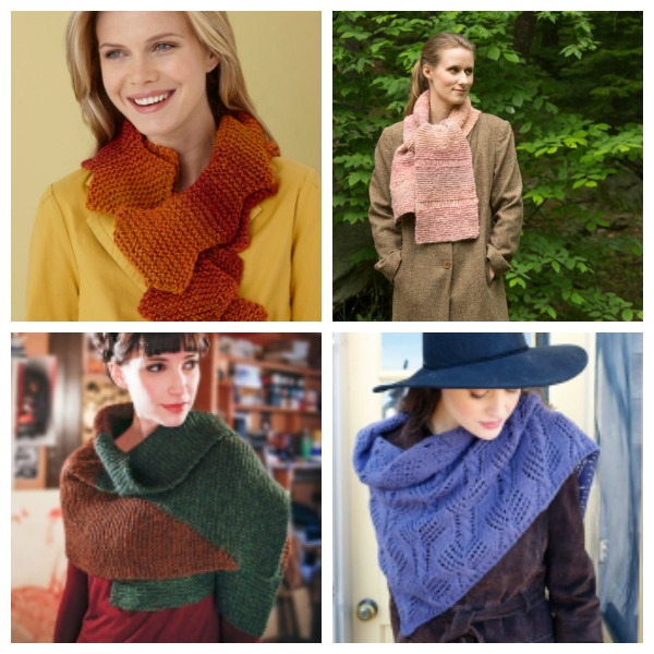 Free patterns for scarves, shawls and cowls to get you through the season.