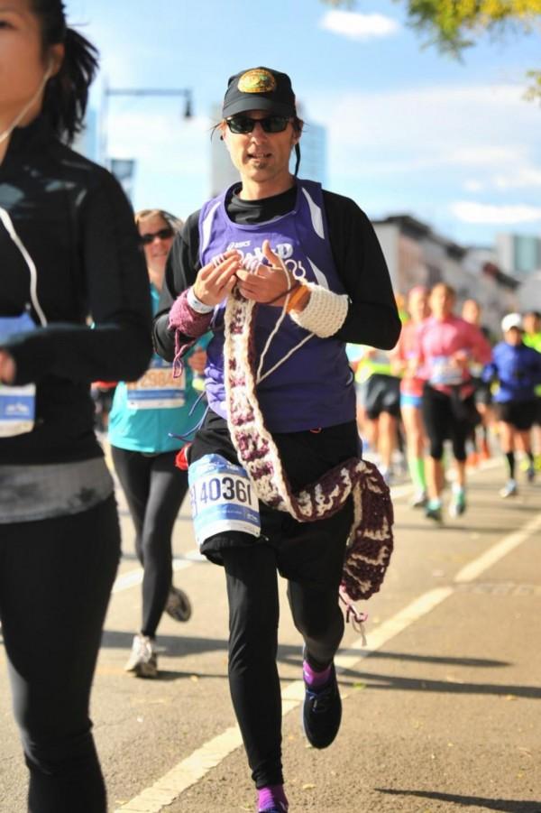 Knitting marathoner sets PR at NYC marathon