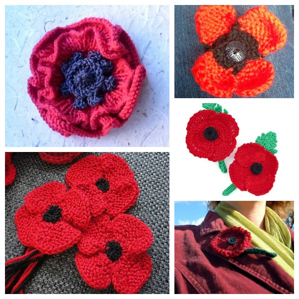 Easy Afghan Knitting Patterns Free : Poppies to Knit for Remembrance Day   Knitting